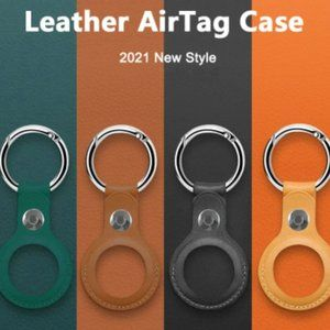NEW Airtags Leather Key Ring case For Apple Airtag